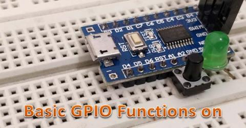 STM8S103F GPIO Functions using Cosmic C and SPL