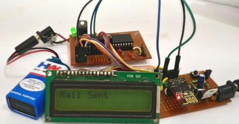 Sending Email using ESP8266 and PIC Microcontroller