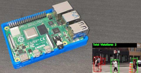 Social Distancing Detector Using OpenCV and Raspberry Pi