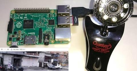 Surveillance Motion Capture Camera using Raspberry Pi and Web Camera