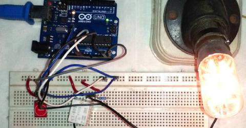 Controlling Home Lights with Touch using TTP223 Touch Sensor and Arduino UNO