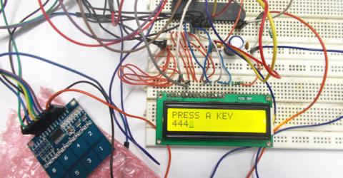 Touch Keypad Interfacing with AVR Microcontroller