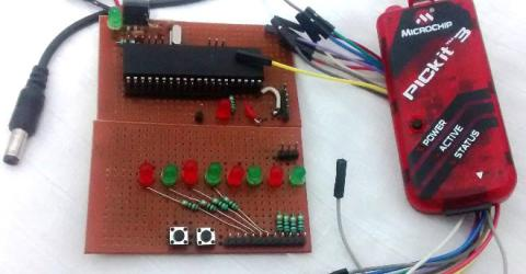 Understanding Timers in-PIC Microcontroller with LED Blinking Sequence