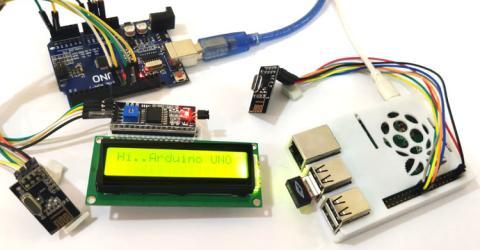 Wireless RF Communication between Raspberry Pi and Arduino UNO using nRF24L01 Module