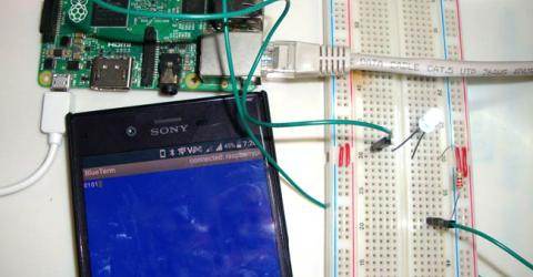 Controlling Raspberry Pi GPIO using Android App over Bluetooth
