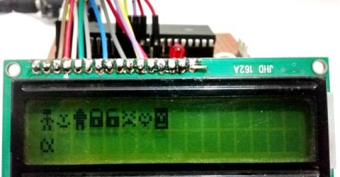 Display Custom Characters on 16x2 LCD using PIC Microcontroller