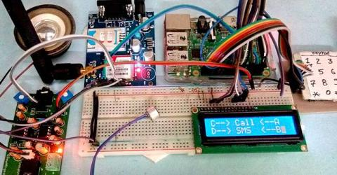 Call and Message using Raspberry Pi and GSM Module
