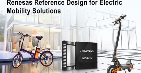 ISL94216R 16-cell BFE- Reference Design for 48V Mobility Solution from Renesas