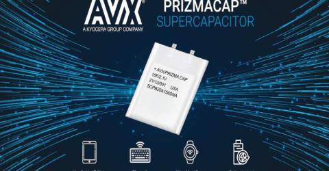AVX PrizmaCap Supercapacitors.