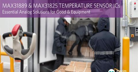 MAX31889 and MAX31825 Analog Temperature Sensors