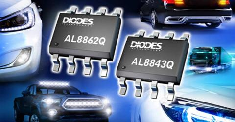 AL8843Q and AL8862Q Automotive Compliant Buck LED Drivers