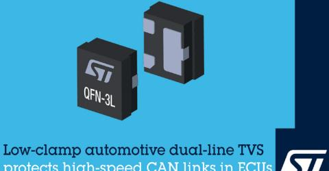 STMicroelectronics' ESDCAN03-2BM3Y Automotive Transient Voltage Suppressor