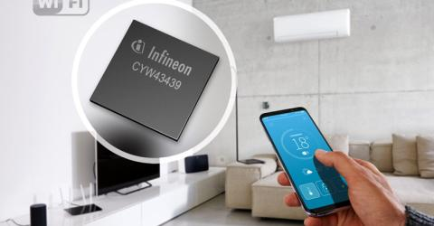 CYW43439 Wi-Fi/Bluetooth/BLE Combo Chip from Infineon