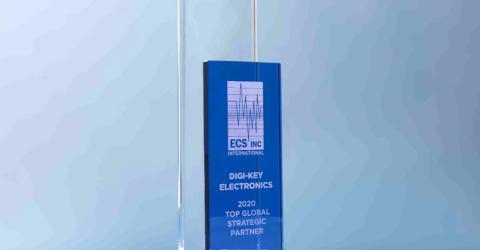 Digi-Key Recognized as the Top Global Strategic Partner for 2020 from ECS Inc.