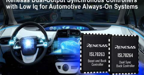 42V Dual Synchronous Controller from Renesas