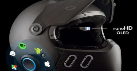 EyeRide HUD Smart Helmet with Nano OLED Heads Up Display