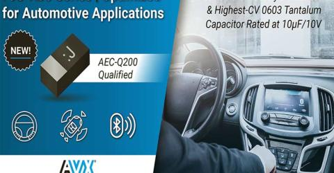 F98-AJ6 Series Capacitors from AVX Corporation