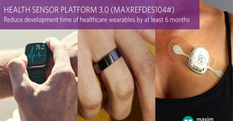 MAXREFDES104# Health Sensor Platform 3.0 from Maxim Integrated