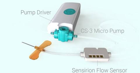 LD20 Single use Liquid Flow Sensor from Sensirion
