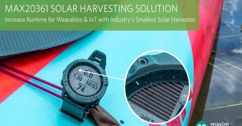 MAX20361 Solar Harvester from Maxim Integrated
