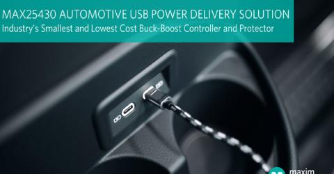 Maxim Integrated's MAX25430 Automotive Buck-Boost Controller