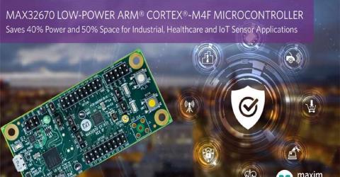 Maxim's MAX3260 Arm Cortex M4 Microcontroller