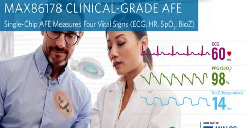 MAX86178 Triple-System Vital Signs AFE