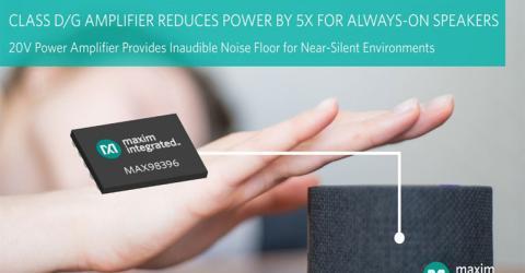 MAX98396 Class D/G Amplifier from Maxim Integrated