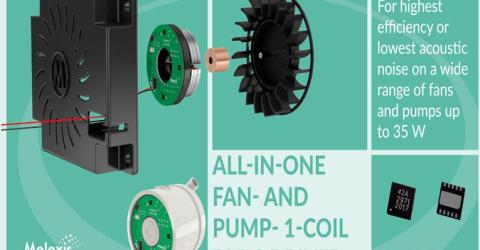 MLX90412 All-in-One Fan And Pump Driver IC
