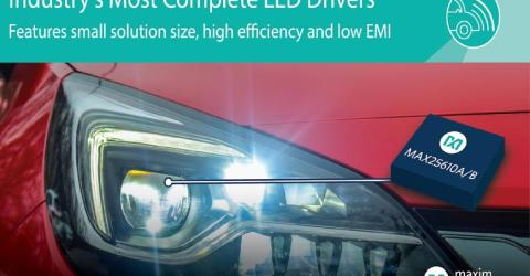 Compact LED Drivers Provide Complete Solutions with High Efficiency and Low EMI