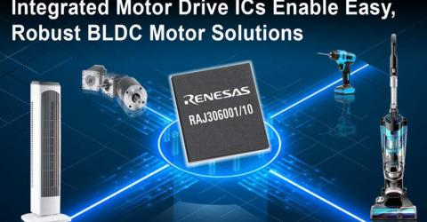 RAJ306001 and RAJ306010 Motor Control ICs