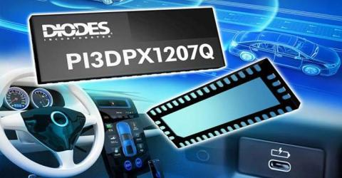 PI3DPX1207Q Automotive Grade 10Gbps Linear ReDriver IC