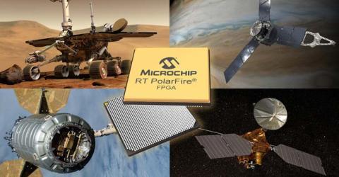 Radiation Tolerant PolarFire RTPF500T FPGA from Microchip Technology