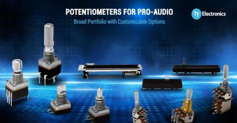 TT Electronics' Pro-Audio Potentiometers