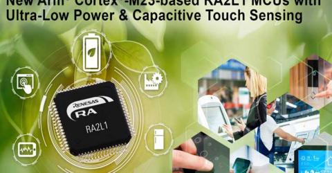 Arm Cortex-M23 based RA2L1 Microcontroller from Renesas Electronics