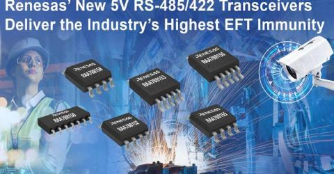 RAA78815x Series of 5V differential RS-485/422 Transceivers from Renesas Electronics