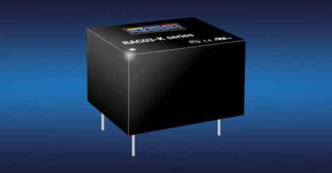 New RAC03-K 3W AC/DC converter modules