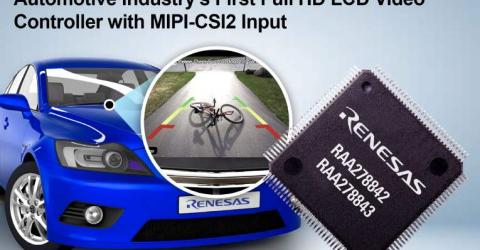 RAA278842 - Full HD LCD Video Controller with MIPI-CSI2 Input for Automotive Applications