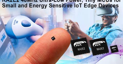 Renesas' RA2E2 32-bit Microcontroller
