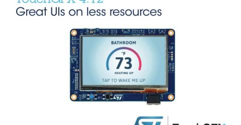 ST Updates TouchGFX Suite in STM32 Microcontrollers