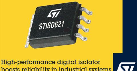 STMicroelectronics' STISO621 Dual-channel Digital Isolator