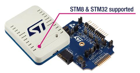 STLINK-V3 probe for programming and debugging STM8 and STM32 microcontrollers