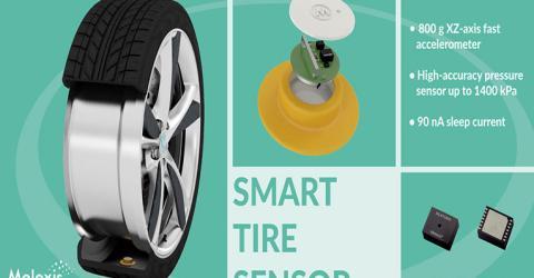 MLX91805 Smart Tire Pressure Sensor from Melexis