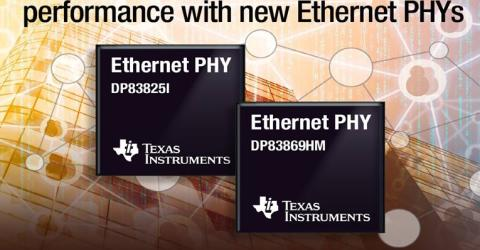 TI's Launch of new Smallest Ethernet Physical Layer(PHY) Transceivers