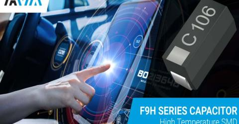 New Tantalum Capacitors F9H Series for automotive-grade capacitors