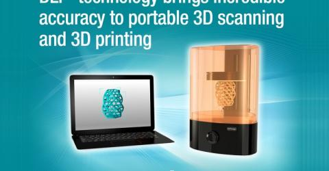 TI's new DLP® Pico™ Controllers Delivers Light Control Capabilities for Desktop 3D printer and Scanner