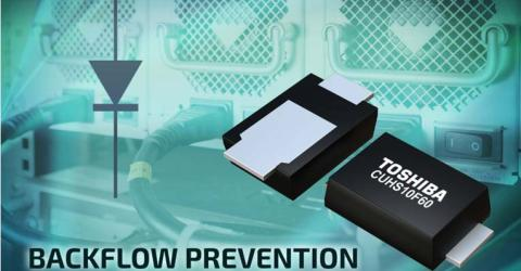 "Toshiba Develops""CUHS10F60"" Low Reverse-Current Schottky Diode with Low Thermal Resistance"
