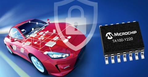 TrustAnchor100 (TA100) CryptoAutomotive Security IC from Microchip