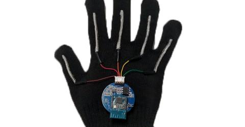 Wearable Tech Glove with Stretchable Sensors