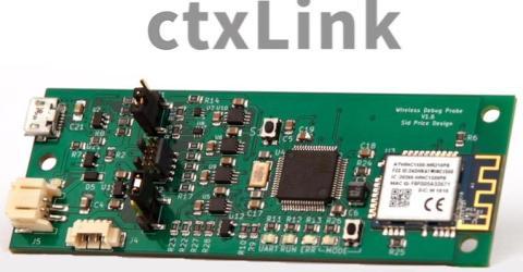 ctxLink- Wireless debug probe for ARM cortex-M microprocessor
